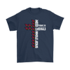 NFL – All I Need Today Is A Little Bit Of Arizona Cardinals And A Whole Lot Of Jesus Football Shirts-T-shirt-Gildan Mens T-Shirt-Navy-S-Itees Global