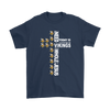 NFL – All I Need Today Is A Little Bit Of Minnesota Vikings And A Whole Lot Of Jesus Football Shirts-T-shirt-Gildan Mens T-Shirt-Navy-S-PopsSpot