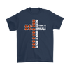 NFL – All I Need Today Is A Little Bit Of Cincinnati Bengals And A Whole Lot Of Jesus Football Shirts-T-shirt-Gildan Mens T-Shirt-Navy-S-PopsSpot