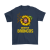 NFL - Denver Broncos Sunflower Football NFL Shirts-T-shirt-Gildan Mens T-Shirt-Navy-S-Itees Global