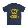 NFL - Carolina Panthers Sunflower Football NFL Shirts-T-shirt-Gildan Mens T-Shirt-Navy-S-Itees Global