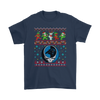 NFL - Carolina Panthers Christmas Grateful Dead Jingle Bears Football Ugly Sweatshirt-T-shirt-Gildan Mens T-Shirt-Navy-S-PopsSpot