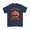 NFL – Halloween Pumpkin Los Angeles Rams Football NFL Shirts-T-shirt-Gildan Mens T-Shirt-Navy-S-Itees Global