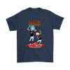 NFL - Cleveland Browns Rick And Morty Football NFL Shirts-T-shirt-Gildan Mens T-Shirt-Navy-S-PopsSpot