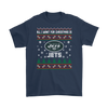 NFL - All I Want For Christmas Is New York Jets Football Shirts-T-shirt-Gildan Mens T-Shirt-Navy-S-Itees Global