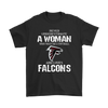 NFL - Never Underestimate A Woman Who Watches Football And Loves Atlanta Falcons Sweatshirt-T-shirt-Gildan Mens T-Shirt-Black-S-PopsSpot