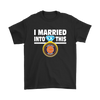 NFL - I Married Into This Chicago Bears Football Sweatshirt-T-shirt-Gildan Mens T-Shirt-Black-S-PopsSpot