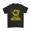 NFL - Carolina Panthers Sunflower Football NFL Shirts-T-shirt-Gildan Mens T-Shirt-Black-S-Itees Global