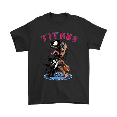 NFL – Tennessee Titans Venom Groot Guardian Of The Galaxy Football Shirts-T-shirt-Gildan Mens T-Shirt-Black-S-Itees Global