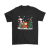 NFL – Denver Broncos Snoopy The Peanuts Movie Christmas Football Super Bowl Shirt-T-shirt-Gildan Mens T-Shirt-Black-S-PopsSpot
