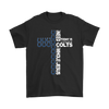 NFL – All I Need Today Is A Little Bit Of Indianapolis Colts And A Whole Lot Of Jesus Football Shirts-T-shirt-Gildan Mens T-Shirt-Black-S-Itees Global