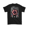 NFL - Atlanta Falcons Captain America Marvel Football American Flag Sweatshirt-T-shirt-Gildan Mens T-Shirt-Black-S-PopsSpot