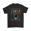 NFL - Carolina Panthers Christmas Grateful Dead Jingle Bears Football Ugly Sweatshirt-T-shirt-Gildan Mens T-Shirt-Black-S-PopsSpot