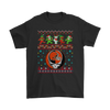 NFL - Cleveland Browns Christmas Grateful Dead Jingle Bears Football Ugly Sweatshirt-T-shirt-Gildan Mens T-Shirt-Black-S-Itees Global