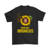 NFL - Denver Broncos Sunflower Football NFL Shirts-T-shirt-Gildan Mens T-Shirt-Black-S-Itees Global
