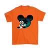 NFL – Carolina Panthers Mickey Mouse Football Shirts-T-shirt-Gildan Mens T-Shirt-Orange-S-Itees Global