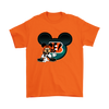 NFL – Cincinnati Bengals Mickey Mouse Football Shirts-T-shirt-Gildan Mens T-Shirt-Orange-S-PopsSpot