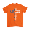 NFL – All I Need Today Is A Little Bit Of Indianapolis Colts And A Whole Lot Of Jesus Football Shirts-T-shirt-Gildan Mens T-Shirt-Orange-S-Itees Global