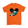 NFL – Denver Broncos Mickey Mouse Football Shirts-T-shirt-Gildan Mens T-Shirt-Orange-S-Itees Global