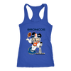 NFL – Denver Broncos Mickey Mouse Super Bowl Football Shirt-T-shirt-Next Level Racerback Tank-Royal-XS-Itees Global