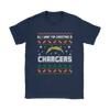 NFL - All I Want For Christmas Is San Diego Chargers Football Shirts-T-shirt-Gildan Womens T-Shirt-Navy-S-Itees Global