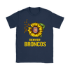 NFL - Denver Broncos Sunflower Football NFL Shirts-T-shirt-Gildan Womens T-Shirt-Navy-S-Itees Global