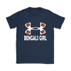 NFL – Cincinnati Bengals Girl Under Armour Football Shirts-T-shirt-Gildan Womens T-Shirt-Navy-S-PopsSpot