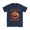 NFL – Halloween Pumpkin Dallas Cowboys Football NFL Shirts-T-shirt-Gildan Womens T-Shirt-Navy-S-Itees Global