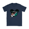 NFL – Atlanta Falcons Mickey Mouse Football Shirts-T-shirt-Gildan Womens T-Shirt-Navy-S-PopsSpot