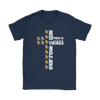 NFL – All I Need Today Is A Little Bit Of Minnesota Vikings And A Whole Lot Of Jesus Football Shirts-T-shirt-Gildan Womens T-Shirt-Navy-S-PopsSpot