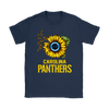 NFL - Carolina Panthers Sunflower Football NFL Shirts-T-shirt-Gildan Womens T-Shirt-Navy-S-Itees Global
