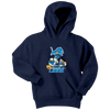 NFL - Detroit Lions Mickey Mouse Donald Duck Goofy Football Shirt-T-shirt-Youth Hoodie-Navy-XS-PopsSpot