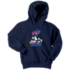 NFL - Buffalo Bills Mickey Mouse Donald Duck Goofy Football Shirt-T-shirt-Youth Hoodie-Navy-XS-Itees Global