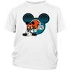 NFL – Cleveland Browns Mickey Mouse Football Shirts-T-shirt-District Youth Shirt-White-XS-Itees Global