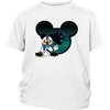 NFL – Carolina Panthers Mickey Mouse Football Shirts-T-shirt-District Youth Shirt-White-XS-Itees Global