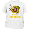 NFL - Denver Broncos Sunflower Football NFL Shirts-T-shirt-District Youth Shirt-White-XS-Itees Global