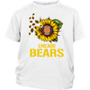 NFL - Chicago Bears Sunflower Football NFL Shirts-T-shirt-District Youth Shirt-White-XS-Itees Global