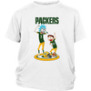 NFL - Green Bay Packers Rick And Morty Football NFL Shirts-T-shirt-District Youth Shirt-White-XS-PopsSpot
