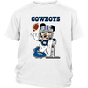 NFL – Funny Dallas Cowboys Mickey Mouse Super Bowl Football TShirt-T-shirt-District Youth Shirt-White-XS-PopsSpot