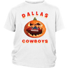 NFL – Halloween Pumpkin Dallas Cowboys Football NFL Shirts-T-shirt-District Youth Shirt-White-XS-Itees Global