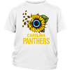 NFL - Carolina Panthers Sunflower Football NFL Shirts-T-shirt-District Youth Shirt-White-XS-Itees Global