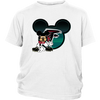 NFL – Atlanta Falcons Mickey Mouse Football Shirts-T-shirt-District Youth Shirt-White-XS-PopsSpot