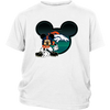 NFL – Denver Broncos Mickey Mouse Football Shirts-T-shirt-District Youth Shirt-White-XS-Itees Global