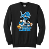 NFL - Detroit Lions Mickey Mouse Donald Duck Goofy Football Shirt-T-shirt-Youth Crewneck Sweatshirt-Black-XS-PopsSpot