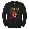 NFL - Cleveland Browns Christmas Grateful Dead Jingle Bears Football Ugly Sweatshirt-T-shirt-Youth Crewneck Sweatshirt-Black-XS-Itees Global