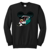 NFL – Atlanta Falcons Mickey Mouse Football Shirt-T-shirt-Youth Crewneck Sweatshirt-Black-XS-PopsSpot