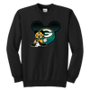 NFL – Green Bay Packers Mickey Mouse Football Shirt-T-shirt-Youth Crewneck Sweatshirt-Black-XS-Itees Global