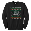 NFL - All I Want For Christmas Is New York Jets Football Shirts-T-shirt-Youth Crewneck Sweatshirt-Black-XS-Itees Global