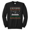 NFL - All I Want For Christmas Is Oakland Raiders Football Shirts-T-shirt-Youth Crewneck Sweatshirt-Black-XS-Itees Global