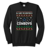 NFL - All I Want For Christmas Is Dallas Cowboys Football Shirts-T-shirt-Youth Crewneck Sweatshirt-Black-XS-PopsSpot
